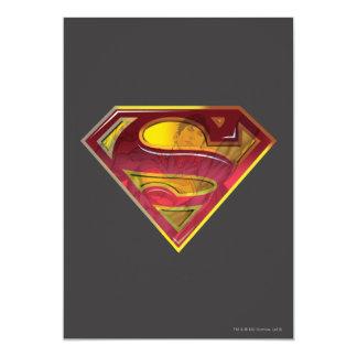 Superman Reflection S-Shield 13 Cm X 18 Cm Invitation Card