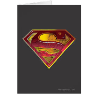 Superman Reflection S-Shield Greeting Card