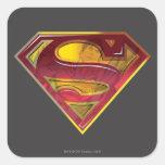 Superman Reflection S-Shield Square Sticker