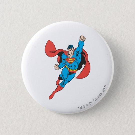 Superman Right Fist Raised 6 Cm Round Badge