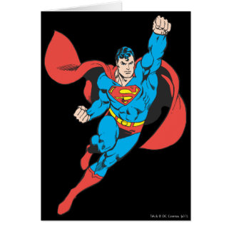Superman Right Fist Raised Card