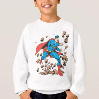Superman Runs in Rubble Sweatshirt
