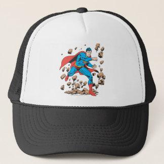 Superman Runs in Rubble Trucker Hat