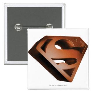 Superman S-Shield | 3D Grainy Logo 15 Cm Square Badge