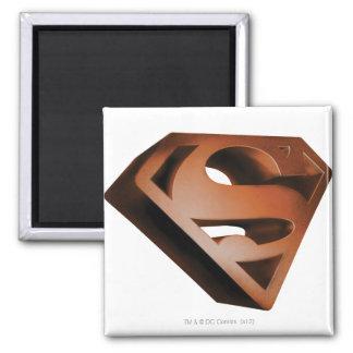 Superman S-Shield | 3D Grainy Logo Square Magnet