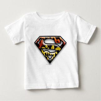 Superman S-Shield | Black Outline Graffiti Logo Baby T-Shirt