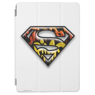 Superman S-Shield | Black Outline Graffiti Logo iPad Air Cover