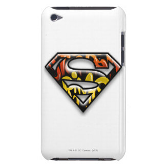 Superman S-Shield | Black Outline Graffiti Logo iPod Touch Case