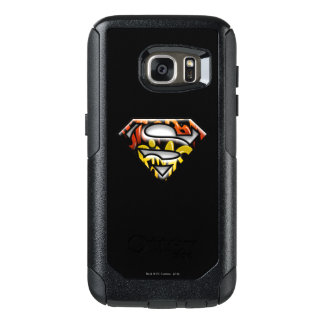 Superman S-Shield | Black Outline Graffiti Logo OtterBox Samsung Galaxy S7 Case