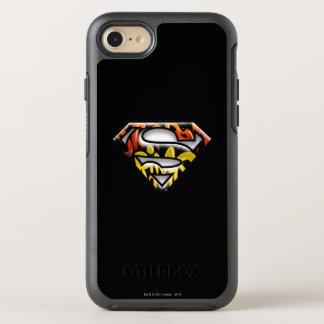 Superman S-Shield | Black Outline Graffiti Logo OtterBox Symmetry iPhone 8/7 Case