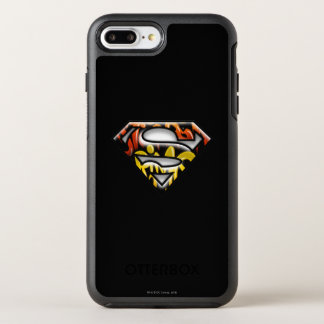 Superman S-Shield | Black Outline Graffiti Logo OtterBox Symmetry iPhone 8 Plus/7 Plus Case