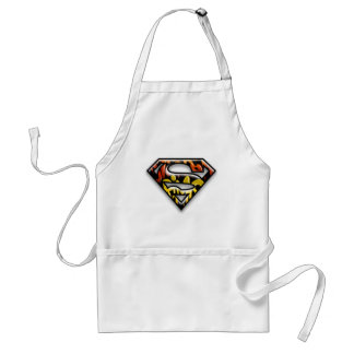 Superman S-Shield | Black Outline Graffiti Logo Standard Apron