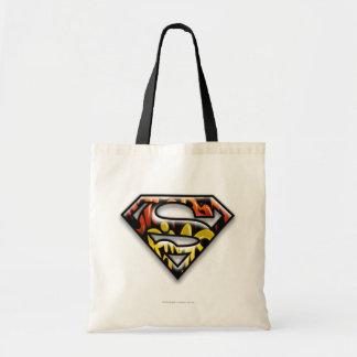 Superman S-Shield | Black Outline Graffiti Logo Tote Bag