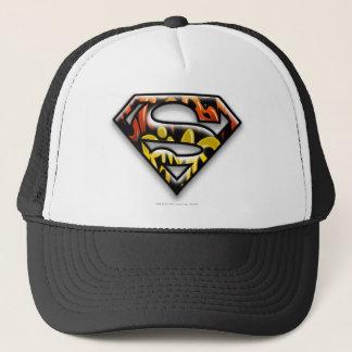 Superman S-Shield | Black Outline Graffiti Logo Trucker Hat