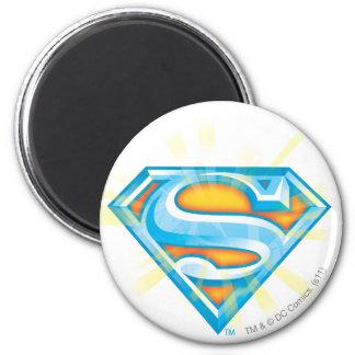Superman S-Shield | Blue and Orange Logo 6 Cm Round Magnet