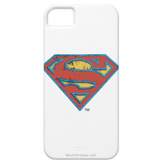 Superman S-Shield | Blue Outline Grunge Logo Case For The iPhone 5