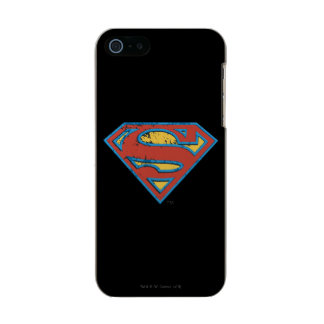 Superman S-Shield | Blue Outline Grunge Logo Incipio Feather® Shine iPhone 5 Case