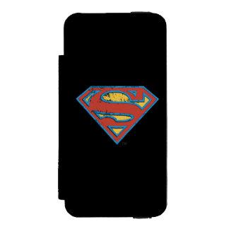 Superman S-Shield | Blue Outline Grunge Logo Incipio Watson™ iPhone 5 Wallet Case