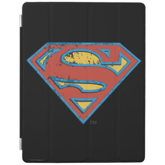 Superman S-Shield | Blue Outline Grunge Logo iPad Cover