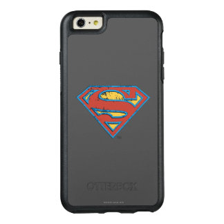 Superman S-Shield | Blue Outline Grunge Logo OtterBox iPhone 6/6s Plus Case