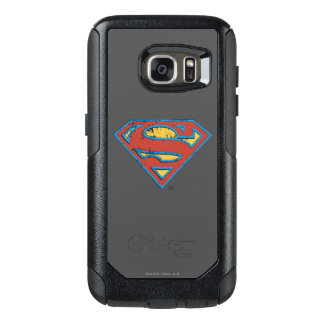 Superman S-Shield | Blue Outline Grunge Logo OtterBox Samsung Galaxy S7 Case
