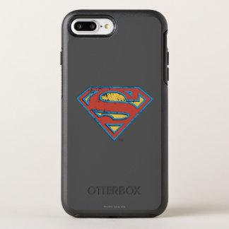 Superman S-Shield | Blue Outline Grunge Logo OtterBox Symmetry iPhone 7 Plus Case