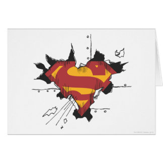 Superman S-Shield   Broken Metal Logo Card