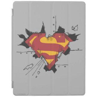 Superman S-Shield | Broken Metal Logo iPad Cover