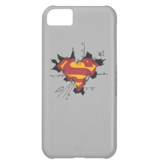 Superman S-Shield | Broken Metal Logo iPhone 5C Case
