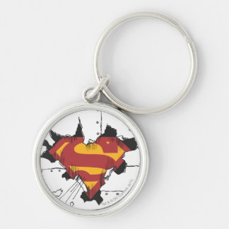 Superman S-Shield | Broken Metal Logo Key Ring