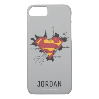 Superman S-Shield | Broken Metal Logo | Name iPhone 8/7 Case