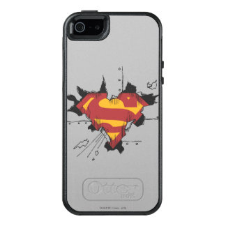Superman S-Shield | Broken Metal Logo OtterBox iPhone 5/5s/SE Case