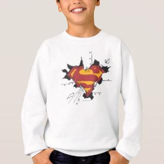 Superman S-Shield | Broken Metal Logo Sweatshirt