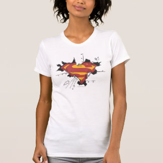 Superman S-Shield | Broken Metal Logo T-Shirt