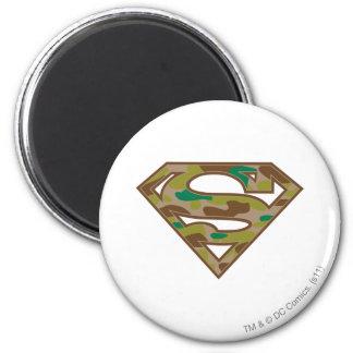 Superman S-Shield | Camouflage Logo 6 Cm Round Magnet