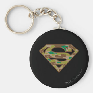 Superman S-Shield | Camouflage Logo Basic Round Button Key Ring