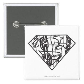 Superman S-Shield | Chainlink Logo 15 Cm Square Badge
