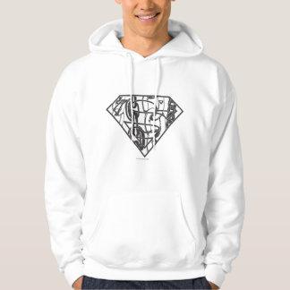 Superman S-Shield   Chainlink Logo Hoodie