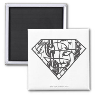 Superman S-Shield | Chainlink Logo Square Magnet