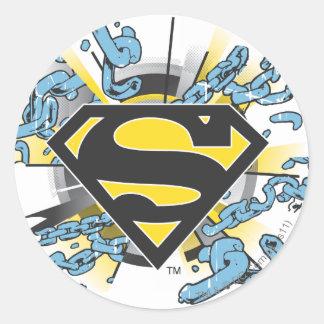 Superman S-Shield | Chains Logo Classic Round Sticker