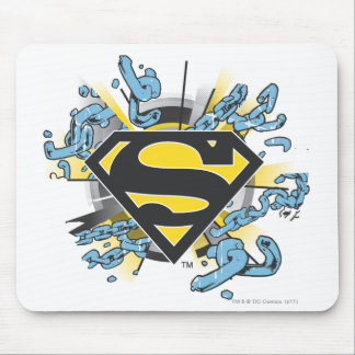 Superman S-Shield | Chains Logo Mouse Pad