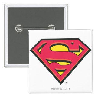 Superman S-Shield | Classic Logo 15 Cm Square Badge