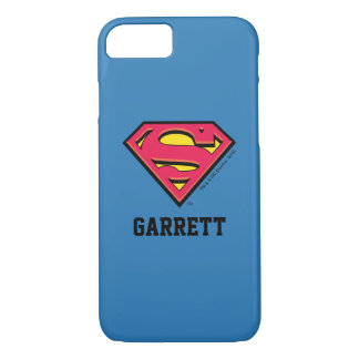 Superman S-Shield | Classic Logo 2 | Add Your Name iPhone 8/7 Case