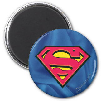 Superman S-Shield | Classic Logo 6 Cm Round Magnet