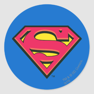 Superman S-Shield | Classic Logo Round Sticker