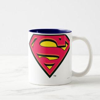 Superman S-Shield   Classic Logo Two-Tone Coffee Mug