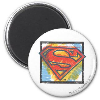 Superman S-Shield | Colored Logo 6 Cm Round Magnet