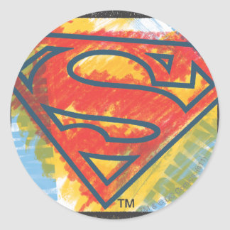 Superman S-Shield | Colored Logo Classic Round Sticker