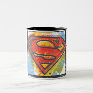 Superman S-Shield | Colored Logo Two-Tone Coffee Mug