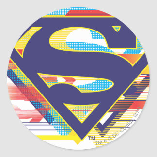 Superman S-Shield | Colorful Logo Classic Round Sticker